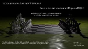 Šachový klub Knihovny Průhonice zve na šachový turnaj