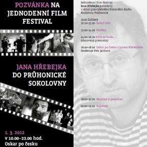 Pozvánka na jednodenní filmový festival Jana Hřebejka