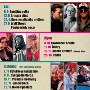 Filmový klubík Knihovny Průhonice - Program podzim 2012