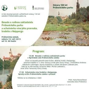 Oslavy 130 let Průhonického parku