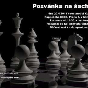 Pozvánka na sobotní šachový turnaj v Praze